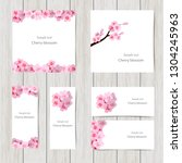 set of greeting and invitation... | Shutterstock .eps vector #1304245963