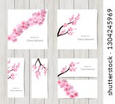 set of greeting and invitation... | Shutterstock .eps vector #1304245969