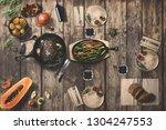 wonderfully designed dining... | Shutterstock . vector #1304247553