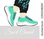fashion vector illustration of... | Shutterstock .eps vector #1304248009