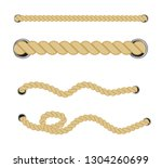 nautical rope. rope marine cord ... | Shutterstock .eps vector #1304260699