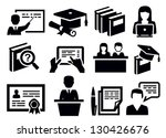 vector black education icons... | Shutterstock .eps vector #130426676