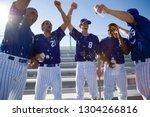 baseball team celebrating... | Shutterstock . vector #1304266816