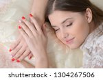 portrait of young woman... | Shutterstock . vector #1304267506