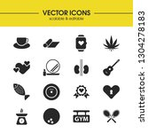 healthy icons set with mat ...