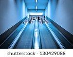 blue interior with modern...
