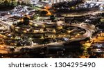 streets and lights of the city... | Shutterstock . vector #1304295490