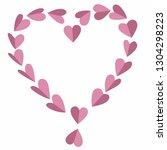 beautiful design of a heart... | Shutterstock .eps vector #1304298223