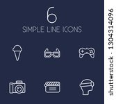 set of 6 pleasure icons line... | Shutterstock .eps vector #1304314096