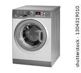 washing machine isolated on... | Shutterstock . vector #1304319010