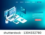 business analysis and... | Shutterstock .eps vector #1304332780