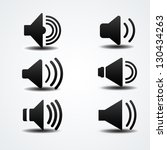 speaker icon | Shutterstock .eps vector #130434263