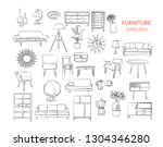 furniture collection. vector... | Shutterstock .eps vector #1304346280