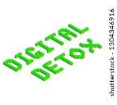 digital detox text in green... | Shutterstock .eps vector #1304346916