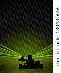 race poster  man and gokart... | Shutterstock . vector #130435646