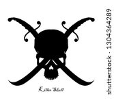 Skull And Crossed Swords. Black ...