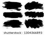 vector set of hand drawn... | Shutterstock .eps vector #1304366893