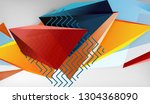 abstract color triangles... | Shutterstock .eps vector #1304368090