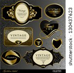 retro black gold label can be... | Shutterstock .eps vector #130437623