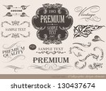 calligraphic design elements... | Shutterstock .eps vector #130437674
