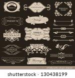 calligraphic design elements ... | Shutterstock .eps vector #130438199