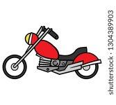 cartoon motorcycle vector | Shutterstock .eps vector #1304389903