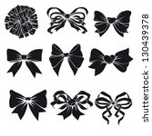 set of festive bows | Shutterstock .eps vector #130439378