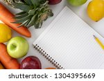 healthy eating plan diet plan ... | Shutterstock . vector #1304395669