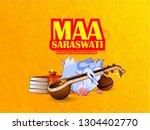 vasant panchami india festival  ... | Shutterstock .eps vector #1304402770
