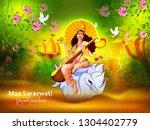 vasant panchami india festival  ... | Shutterstock .eps vector #1304402779