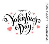 happy valentines day typography ... | Shutterstock .eps vector #1304417593