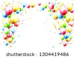 happy template with colorful... | Shutterstock .eps vector #1304419486