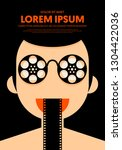 movie and film poster design...   Shutterstock .eps vector #1304422036