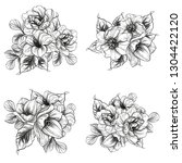 flowers set. collection of... | Shutterstock . vector #1304422120