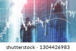 forex trading  financial market ... | Shutterstock . vector #1304426983