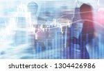 forex trading  financial market ... | Shutterstock . vector #1304426986