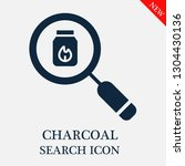 search charcoal icon. editable... | Shutterstock .eps vector #1304430136