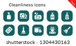 cleanliness icon set. 10 filled ... | Shutterstock .eps vector #1304430163