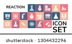 reaction icon set. 19 filled... | Shutterstock .eps vector #1304432296