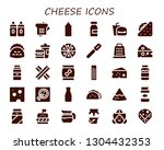 cheese icon set. 30 filled... | Shutterstock .eps vector #1304432353
