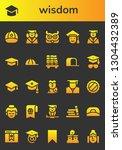 wisdom icon set. 26 filled... | Shutterstock .eps vector #1304432389