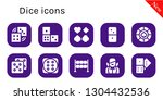 dice icon set. 10 filled dice... | Shutterstock .eps vector #1304432536