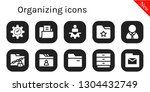 organizing icon set. 10 filled...   Shutterstock .eps vector #1304432749