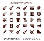 acoustic icon set. 30 filled... | Shutterstock .eps vector #1304432773