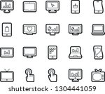 bold stroke vector icon set  ... | Shutterstock .eps vector #1304441059