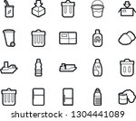 bold stroke vector icon set  ... | Shutterstock .eps vector #1304441089