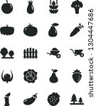solid black vector icon set  ... | Shutterstock .eps vector #1304447686