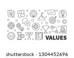 values concept horizontal... | Shutterstock .eps vector #1304452696