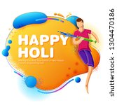 illustration of colorful happy... | Shutterstock .eps vector #1304470186