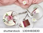 romantic fresh flowers... | Shutterstock . vector #1304483830